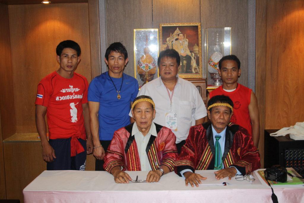 Muu und Eakubon mit den Grossmeistern u. a. Master Woody